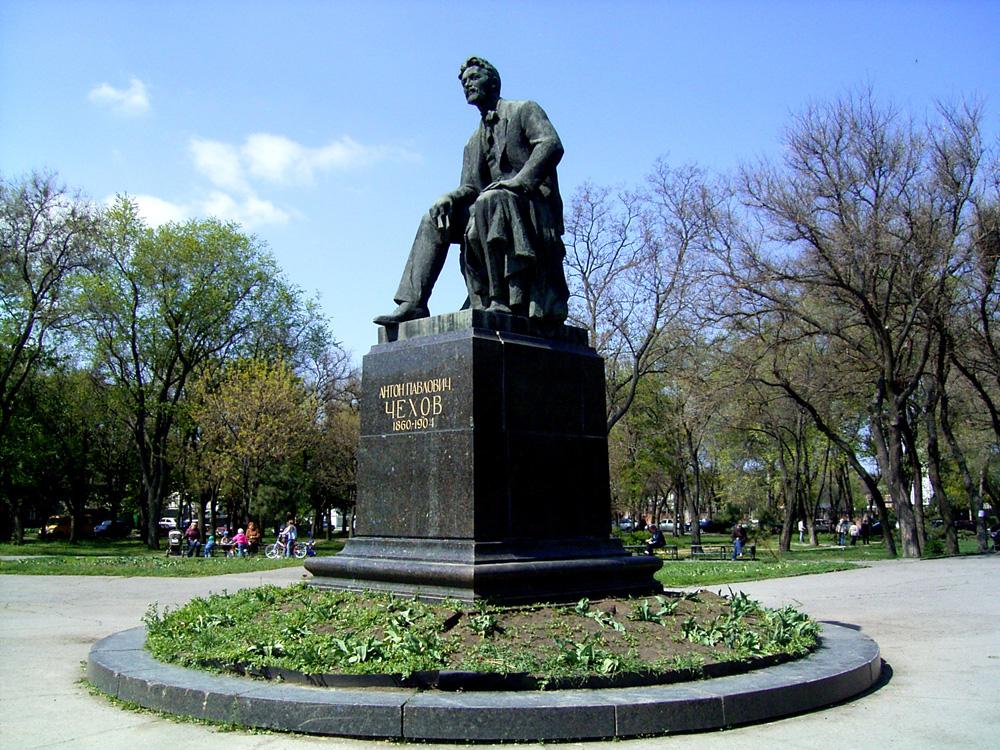 Памятники чехову в таганроге 6 мая цены на памятники белгород у человека